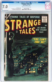 Strange Tales #52 (Atlas, 1956) CGC FN/VF 7.0 Cream to off-white pages