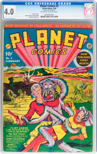 Planet Comics #2 (Fiction House, 1940) CGC VG 4.0 Off-white to white pages
