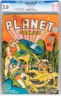 Planet Comics #5 (Fiction House, 1940) CGC GD 2.0 Brittle pages