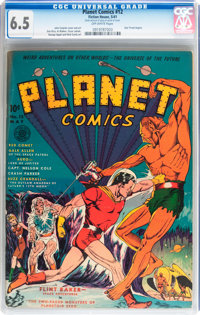 Planet Comics #12 (Fiction House, 1941) CGC FN+ 6.5 Off-white pages