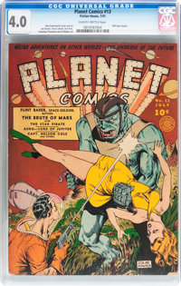 Planet Comics #13 (Fiction House, 1941) CGC VG 4.0 Slightly brittle pages