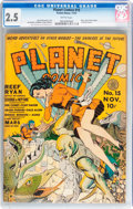 Golden Age (1938-1955):Science Fiction, Planet Comics #15 (Fiction House, 1941) CGC GD+ 2.5 Brittlepages....