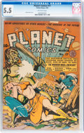 Golden Age (1938-1955):Science Fiction, Planet Comics #17 (Fiction House, 1942) CGC FN- 5.5 Off-whitepages....