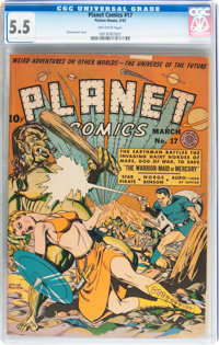 Planet Comics #17 (Fiction House, 1942) CGC FN- 5.5 Off-white pages