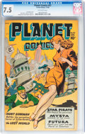 Golden Age (1938-1955):Science Fiction, Planet Comics #57 (Fiction House, 1948) CGC VF- 7.5 Off-white pages....