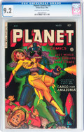 Golden Age (1938-1955):Science Fiction, Planet Comics #70 (Fiction House, 1953) CGC NM- 9.2 Cream tooff-white pages....