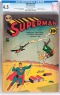 Golden Age (1938-1955):Superhero, Superman #10 (DC, 1941) CGC VG+ 4.5 Cream to off-white pages....