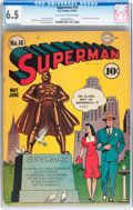 Golden Age (1938-1955):Superhero, Superman #16 (DC, 1942) CGC FN+ 6.5 Off-white to white pages....