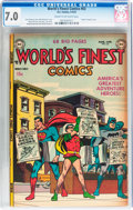 Golden Age (1938-1955):Superhero, World's Finest Comics #63 (DC, 1953) CGC FN/VF 7.0 Cream to off-white pages....