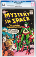 Silver Age (1956-1969):Science Fiction, Mystery in Space #37 (DC, 1957) CGC VF+ 8.5 Off-white to white pages....