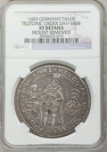German States:Teutonic Order, German States: Teutonic Order. Maximilian of Austria Taler 1603 XFDetails(Mount Removed) NGC,...
