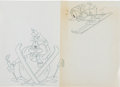 Animation Art:Production Drawing, Disney Store Apparel Artwork Illustration Original Art Group(Walt Disney, 1990).... (Total: 14 Original Art)