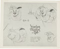 animation art:Model Sheet, Wynken, Blinken and Nod Animation Model Sheet Group (WaltDisney, 1938).... (Total: 4 Items)