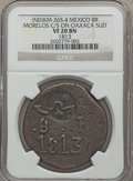 Mexico, Mexico: Revolutionary Morelos 8 Reales Counterstamp 1813 VF20 BrownNGC,...