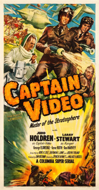 "Captain Video, Master of the Stratosphere (Columbia, 1951). Three Sheet (41.25"" X 78.75"")"