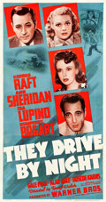 "Movie Posters:Drama, They Drive by Night (Warner Brothers, 1940). Three Sheet (41.5"" X79"").. ..."