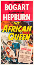 "Movie Posters:Adventure, The African Queen (United Artists, 1952). Three Sheet (41.5"" X78.5"").. ..."