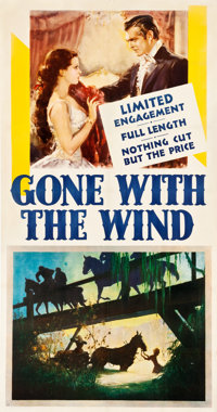 """Gone with the Wind (MGM, 1939). Three Sheet (41.5"""" X 78"""")"""
