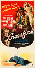 "Movie Posters:Film Noir, Crossfire (RKO, 1947). Three Sheet (41.5"" X 80"").. ..."