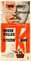 "Movie Posters:Drama, Citizen Kane (RKO, R-1956). Three Sheet (41.25"" X 79.75"").. ..."