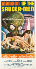 "Movie Posters:Science Fiction, Invasion of the Saucer-Men (American International, 1957). ThreeSheet (41.25"" X 78.5"").. ..."