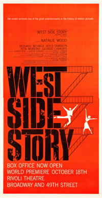 """West Side Story (United Artists, 1961). Three Sheet (41.25"""" X 80"""") Premiere Style"""
