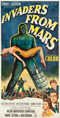 "Movie Posters:Science Fiction, Invaders from Mars (20th Century Fox, 1953). Three Sheet (40.5"" X78.75"").. ..."