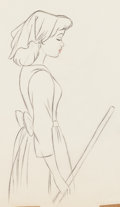 Animation Art:Production Drawing, Cinderella Production Drawing Animation Art (Walt Disney,1950)....