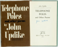 John Updike. SIGNED. Telephone Poles and Other Poems. New York: Knopf, 1963. First edition