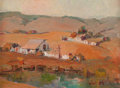 Fine Art - Painting, American:Modern  (1900 1949)  , SELDEN CONNOR GILE (American, 1877-1947). Marin Ranch, 1939.Oil on masonite. 12-1/4 x 15-3/4 inches (31.1 x 40.0 cm). S...