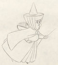 Animation Art:Production Drawing, Sleeping Beauty Fauna, Flora, and Merryweather ProductionDrawing Group (Walt Disney, 1959).... (Total: 3 Original Art)