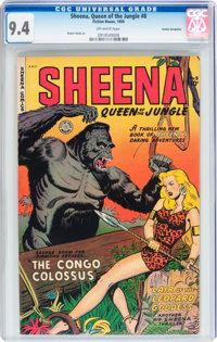 Sheena, Queen of the Jungle #8 - Cosmic Aeroplane pedigree (Fiction House, 1950) CGC NM 9.4 Off-white pages