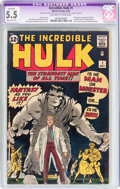 Silver Age (1956-1969):Superhero, The Incredible Hulk #1 (Marvel, 1962) CGC Apparent FN- 5.5 Moderate(P) Off-white to white pages....