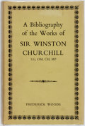 Books:Reference & Bibliography, [Bibliography]. Frederick Woods. A Bibliography of the Works ofSir Winston Churchill. University of Toronto Press, ...