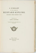 Books:Reference & Bibliography, [Bibliography]. Lloyd Chandler. LIMITED. A Summary of the Workof Rudyard Kipling. New York: Grolier Club, 1930. Fir...
