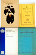Books:Mystery & Detective Fiction, Agatha Christie. Group of Four French's Acting Editions of Plays.New York and London: Samuel French, [various dates]. Origi...
