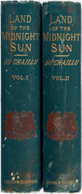 Books:Travels & Voyages, Paul B. du Chaillu. The Land of the Midnight Sun. New York: Harper's, 1882. Complete in two thick octavo volumes. Pu... (Total: 2 Items)