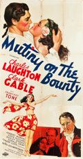 "Movie Posters:Academy Award Winners, Mutiny on the Bounty (MGM, 1935). Three Sheet (41"" X 79.5"") Style A.. ..."