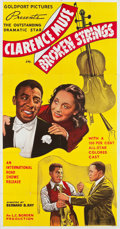 "Movie Posters:Drama, Broken Strings (International Road Shows, 1940). Three Sheet (41"" X81"").. ..."