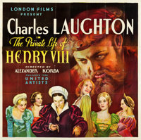 "The Private Life of Henry VIII (United Artists, 1933). Six Sheet (80.5"" X 79.25"")"