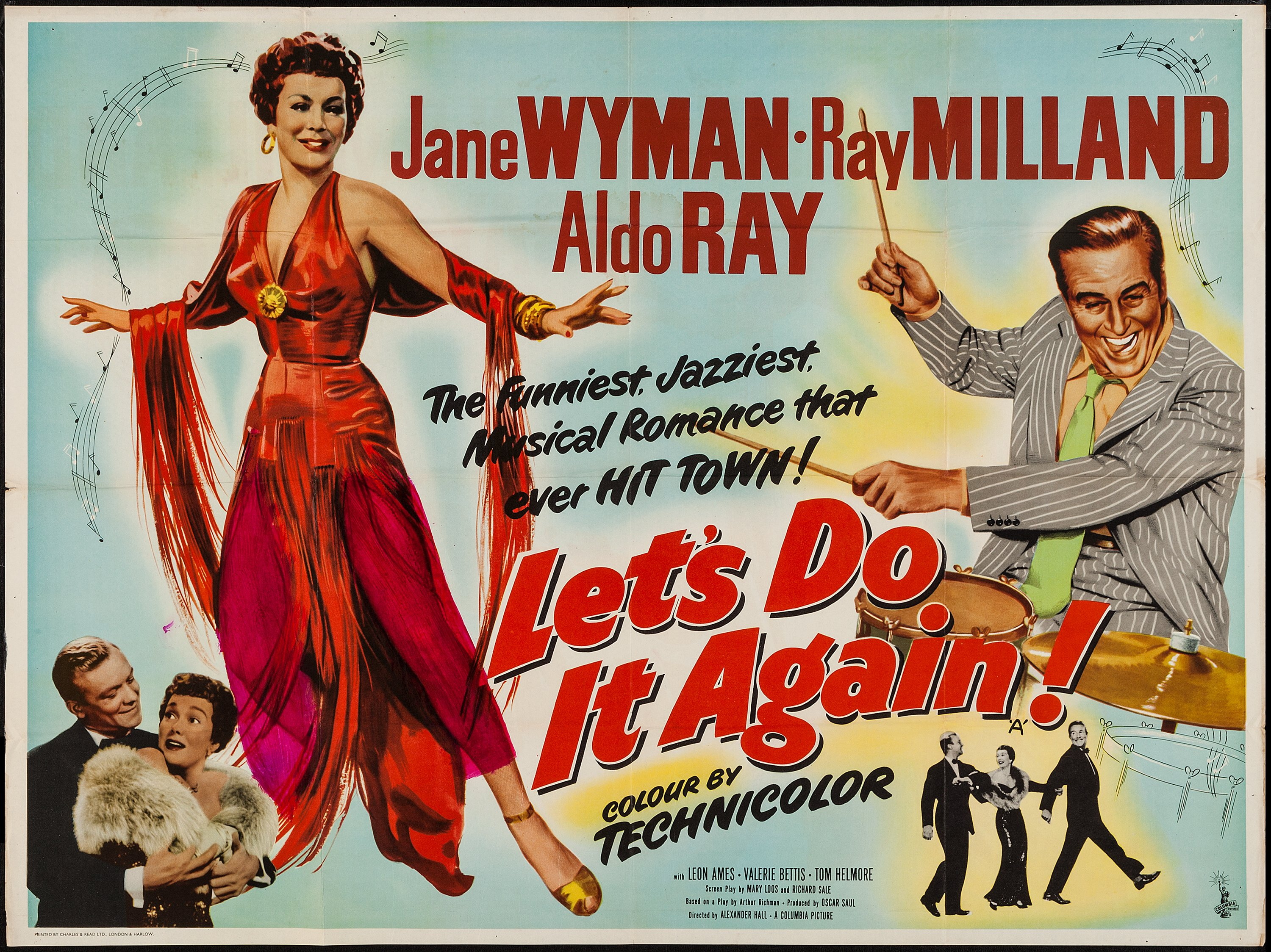 "Let's Do It Again (Columbia, 1953). British Quad (30"" X 40 ..."