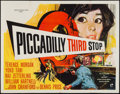 "Movie Posters:Crime, Piccadilly Third Stop (Rank, 1960). British Quad (30"" X 40"").Crime.. ..."