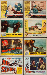 "Air Strike & Others Lot (Lippert, 1955). Title Lobby Cards (3) & Lobby Cards (17) (11"" X 14""). Action..."
