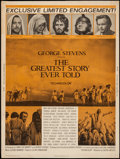 "Movie Posters:Drama, The Greatest Story Ever Told & Others Lot (United Artists, 1965). Posters (4) (30"" X 40"") & One Sheets (4) (27"" X 41""). Dram... (Total: 8 Items)"