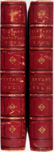 Books:Literature Pre-1900, William Cullen Bryant, editor. The Library of Poetry andSong. Illustrated with steel engravings and wood cuts. New ...(Total: 2 Items)