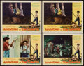 "Movie Posters:Adventure, The Adventures of Tom Sawyer (NTA Pictures, R-1958). Lobby Card(11"" X 14"") & Belgian (21.25"" X 14""). Adventure.. ... (Total: 5Items)"