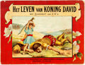 Books:Non-American Editions, David Singer. Het Leven van Koning David. Text in Dutch.Amsterdam: F.W. Egeling, [n.d.]. Oblong octavo. Publisher's...