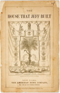 Books:Americana & American History, [Americana]. William Bourne. The House That Jeff Built. NewYork: The American News Company, 1868. Printed wrappers,...