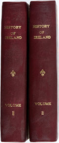 Books:World History, James Gordon. A History of Ireland. London: Longman, Hurst, Rees, and Orme, 1806. First edition. Complete in two oct... (Total: 2 Items)