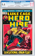 Bronze Age (1970-1979):Superhero, Hero for Hire #1 Don/Maggie Thompson Collection pedigree (Marvel,1972) CGC NM 9.4 Off-white to white pages....